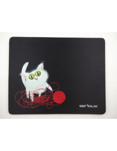 Mouse pad Serioux model Cat and ball of yarn MSP01 suprafata