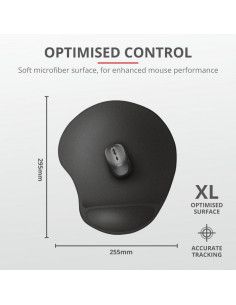 Mouse pad Trust Bigfoot XL Mouse Pad with gel pad Black