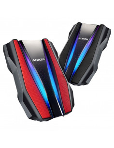 HDD extern ADATA 2TB HD770G 2.5 USB 3.2 RGB strips Culoare: Rosu