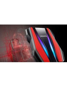 HDD extern ADATA 1TB HD770G 2.5 USB 3.2 RGB strips Culoare: Rosu