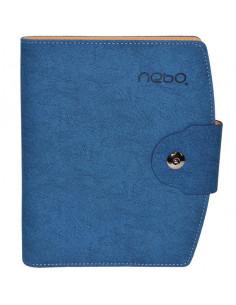 Agendă Organizer Cu Buton A5 Nebo 16150 Nedatată, 100 File, Albastru