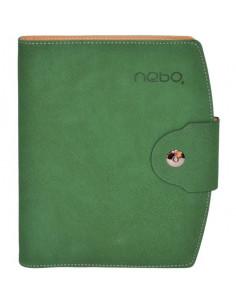 Agendă Organizer Cu Buton A5 Nebo 16150 Nedatată, 100 File, Verde