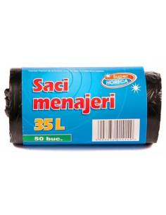 Saci menajeri 35L 50 buc/rola Super Horeca