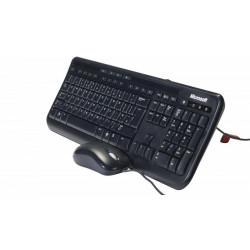 Kit tastatura + mouse Microsoft 600 Wired Desktop Negru