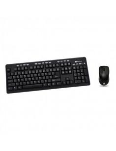 Kit tastatura + mouse Serioux MKM5500 cu fir multimedia negru