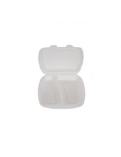 Caserola spuma cu 2 compartimente, 100 buc/set