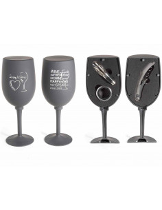 Pahar cu 3 accesorii pentru vin