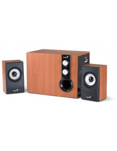 BOXE GENIUS 2.1 RMS: 32W (2 x 9W + 1 x 18W) cherry wood