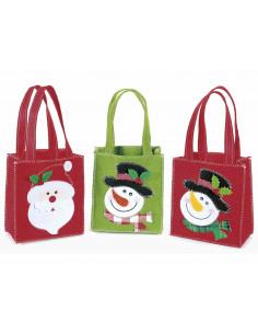 Set 3 pungi cadou, Rosu/Verde