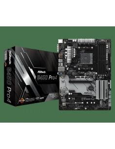 Placa de baza AsRock AMD B450 PRO4 4 x DDR4 DIMM Slots 2 x PCI
