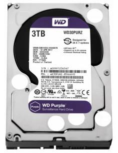 HDD intern WD 3.5 3TB PURPLE SATA3 5400rpm 64MB Surveillance HDD