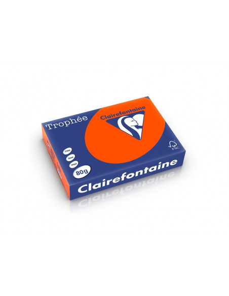 Hârtie color Clairefontaine Intens, Orange, 500 coli/top