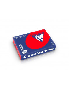 Hârtie color Clairefontaine Intens, Rosu, 500 coli/top