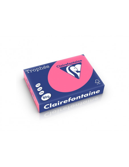 Hârtie color Clairefontaine Intens, Roz, 500 coli/top