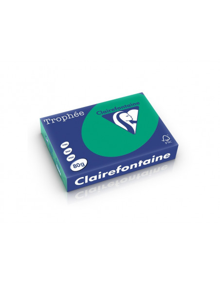 Hârtie color Clairefontaine Intens, Verde inch, 500 coli/top