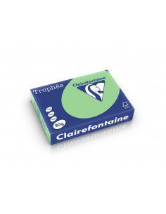 Hârtie color Clairefontaine Pastel, Verde, 500 coli/top