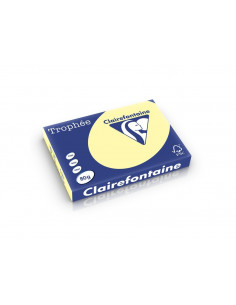 Hârtie color Clairefontaine Pastel A3, Galben, 500 coli/top