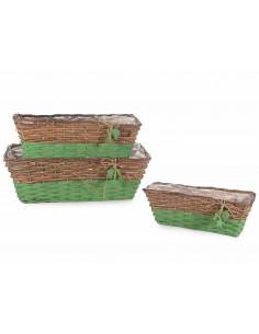 Set 3 cosuri din lemn cu interior impermeabil