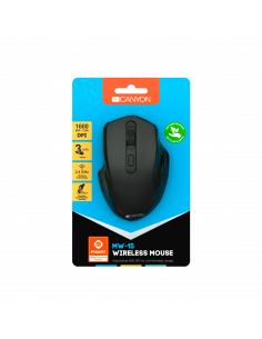 Mouse wireless Canyon CNE-CMSW15B cu 4 butoane, Negru