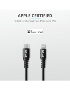 Cablu incarcare Trust Ndura USB-C to Lightning Cable 1m