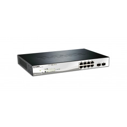 Switch D-Link DGS-1210-10P 8 porturi Gigabit PoE 802.3af PoE