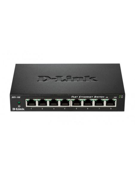 Switch D-Link DES-108 8 porturi 10/100Mbps desktop fara