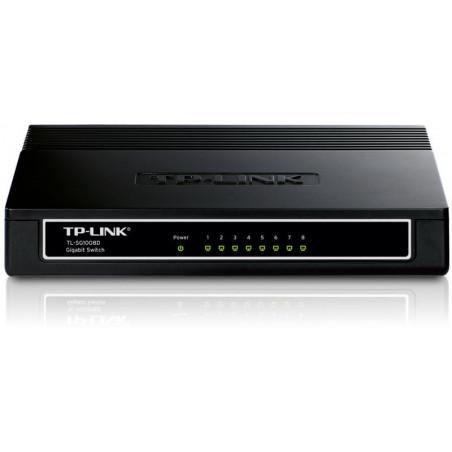 Switch TP-Link TL-SG1008D 8 porturi Gigabit Desktop plastic