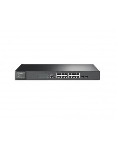 TP-Link JetStream 16-Port Gigabit L2 Managed Switch with 2 SFP