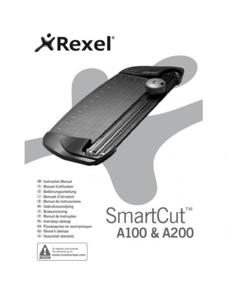 Trimmer Rexel SMARTCUT A100, A4, 5 coli, cos negru