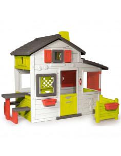 Casuta pentru copii Smoby Friends Playhouse cu gradina