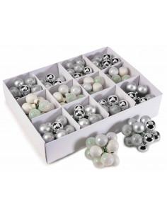 Set 144 globuri din sticle, Argintiu