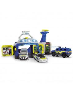 Pista de masini Dickie Toys SWAT Station cu 3 masini de politie