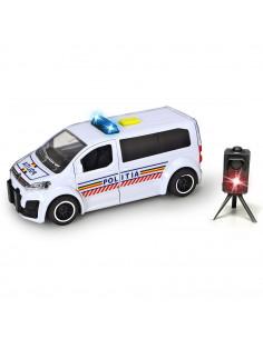 Masina de politie Dickie Toys Citroen SpaceTourer cu radar de