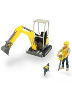 Excavator Dickie Toys Playlife Excavator Set cu figurina si