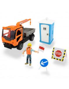 Camion Dickie Toys Playlife M.T. Ladog Service Set cu figurina