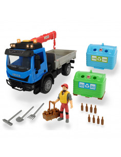Camion Dickie Toys Playlife Iveco Recycling Container Set cu