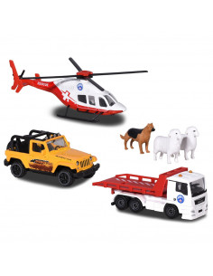 Set Majorette Diorama Mountain Rescue cu 2 masinute, 1