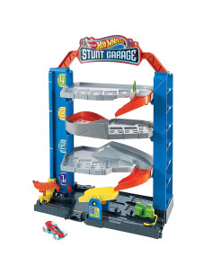 Jucarie Hot Wheels by Mattel City Garajul cu cascadorii cu 1