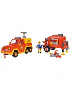 Masina de pompieri Simba Fireman Sam Venus cu remorca, figurina