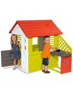 Casuta pentru copii Smoby Nature cu bucatarie