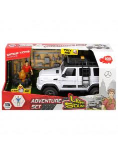 Masina Dickie Toys Playlife Adventure Set cu figurina si