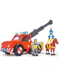 Masina de pompieri Simba Fireman Sam Phoenix cu figurina, cal