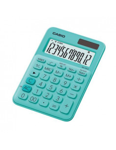 Calculator de birou Casio MS-20UC, 12 digits, verde