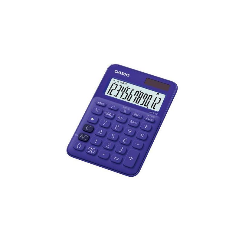Calculator de birou Casio MS-20UC, 12 digits, violet
