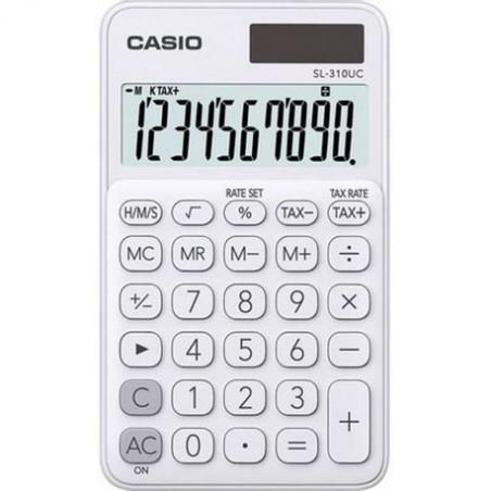 Calculator portabil Casio SL-310UC, 10 digits, alb