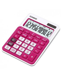 Calculator de birou Casio MS-20NC-RD, 12 digit, rosu