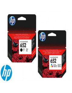 Pachet cartuse HP 652 -Set cartuse HP652 original OEM , HP , contine :1 cartus negru F6V25AE + 1 cartus color F6V24AE