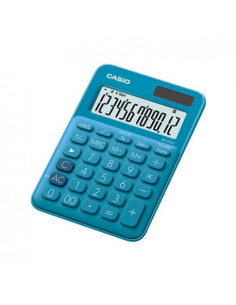 Calculator de birou Casio MS-20UC, 12 digits, albastru